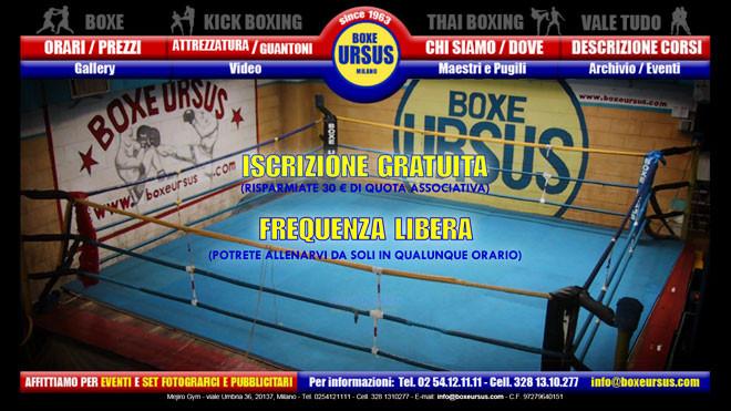 Boxe Ursus - sito Internet