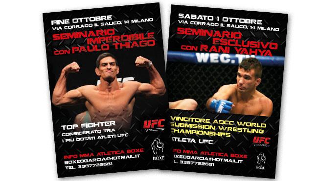 MMA Atletica Boxe locandine seminari internazionali